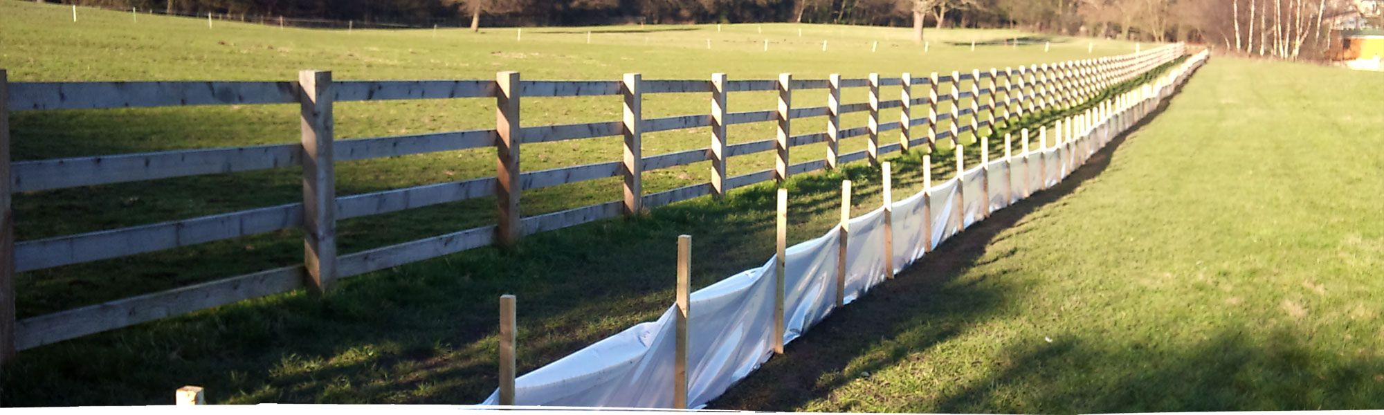 Fence for newt protection in North Wales