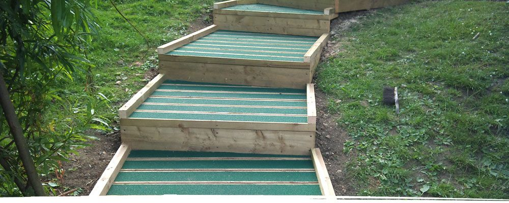 Timber steps for school use