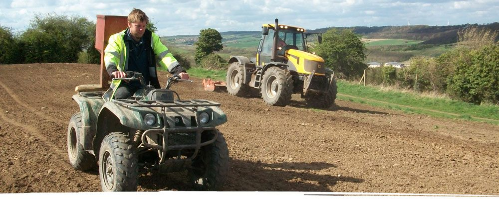 Wildbanks Conservation team on quad bike and tractor
