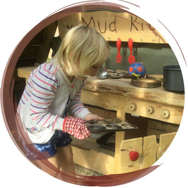 Mud kitchen for school trip